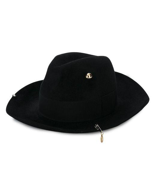 Декорированная Шляпа-федора Ruslan Baginskiy, цвет: Black