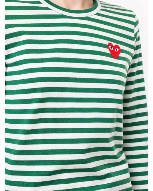 COMME DES GARÇONS PLAY ロゴパッチ Tシャツ Green