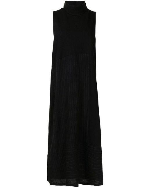 Y's Yohji Yamamoto Black Sleeveless Roll Neck Dress