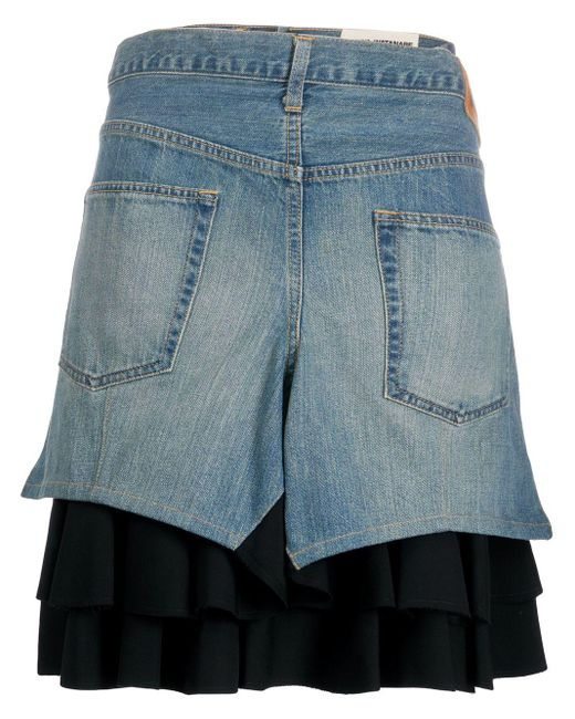 Junya Watanabe レイヤード スカート Blue