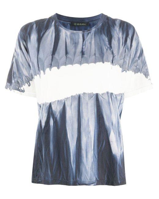 Mr & Mrs Italy タイダイ カラーブロック Tシャツ Blue