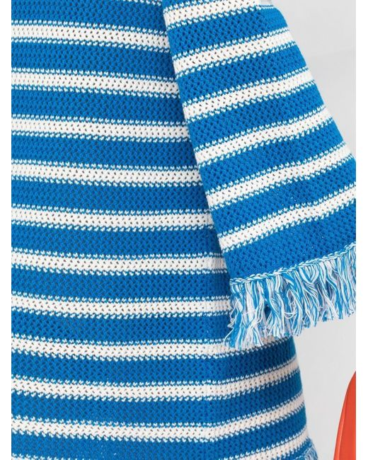 Vestito corto a righe di MSGM in Blue