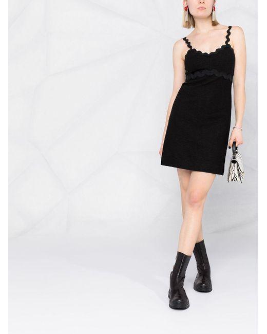 Pinko ジグザグエッジ ドレス Black