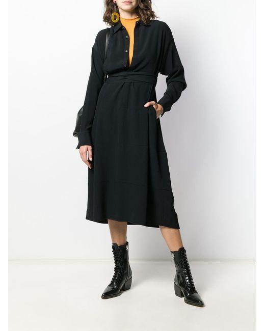 DSquared² ラップ シャツドレス Black