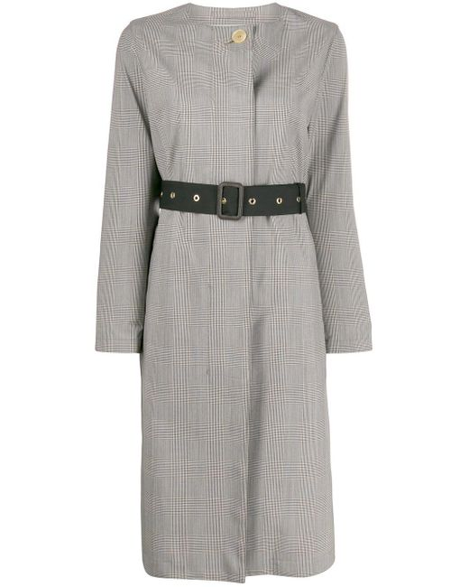 Mackintosh Gray Blairmore Storm System Check Coat