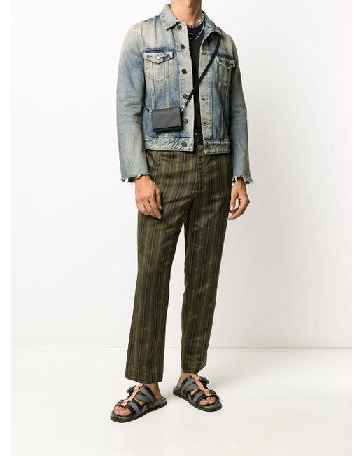 Джинсовая Куртка С Эффектом Потертости Saint Laurent для него, цвет: Blue