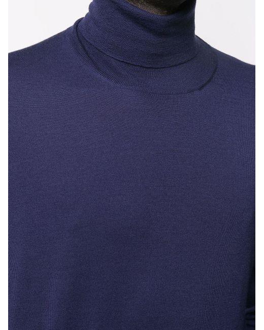 Джемпер С Высоким Воротником Brunello Cucinelli для него, цвет: Blue
