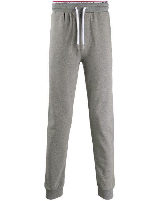 メンズ Moschino ロゴ トラックパンツ Gray