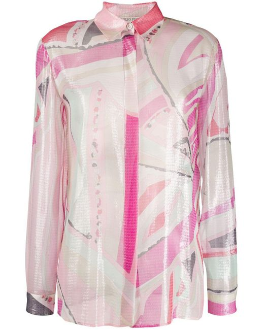 Emilio Pucci プリント シャツ Pink