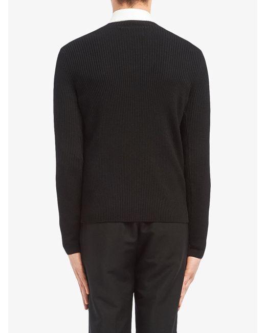 Prada Trui Van Wol En Nylon in het Black voor heren