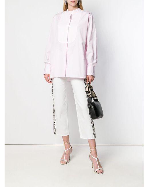 Stella McCartney ピンタック シャツ Pink