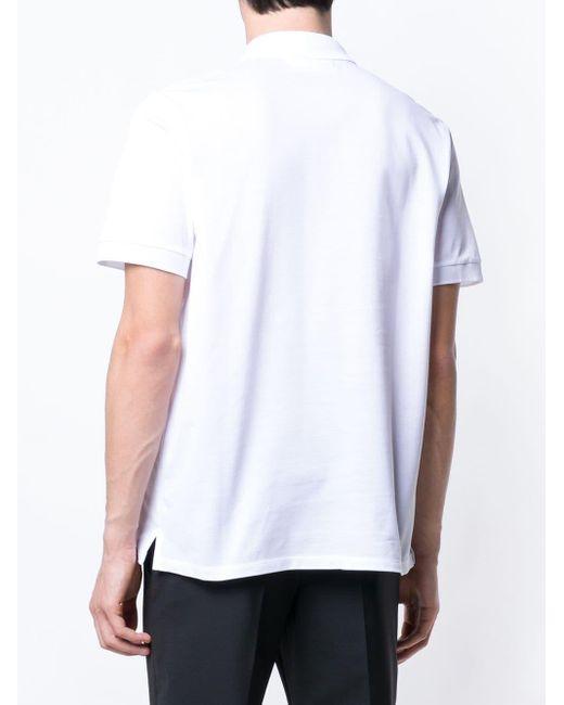メンズ Neil Barrett Thunderbolt ポロシャツ White