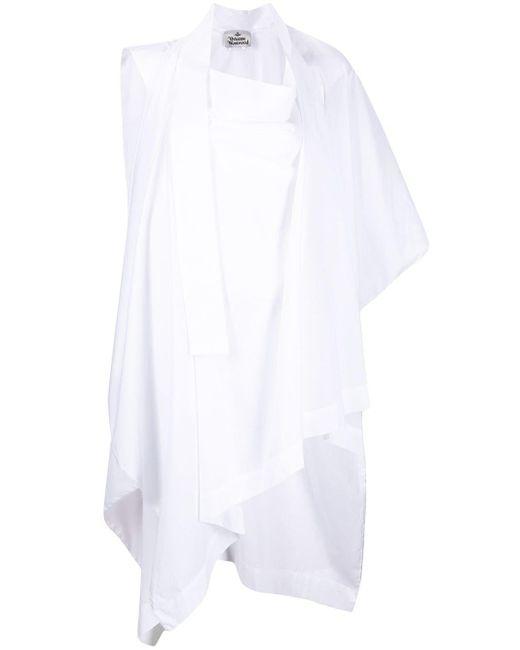 Vivienne Westwood ドレープ ブラウス White