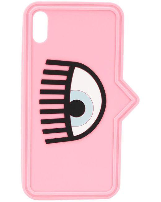 Chiara Ferragni アイ プリント Iphone Xs ケース Pink