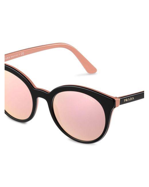 Prada Black Sonnenbrille mit farbigen Gläsern