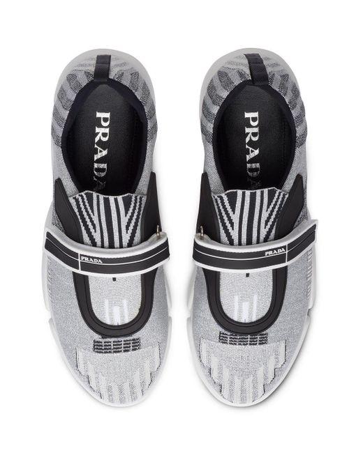 Prada Metallic Sneaker für Damen