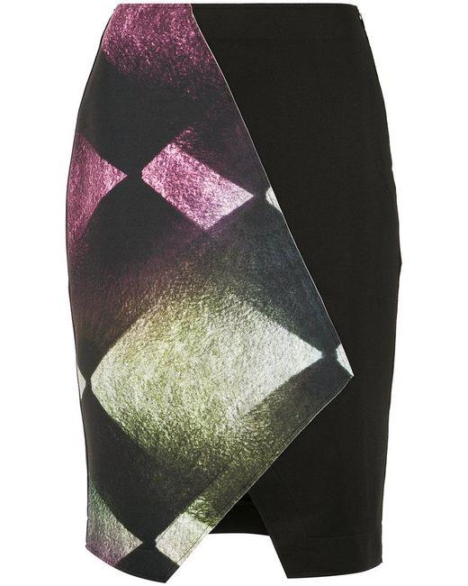 Mara Mac - Black Panelled Skirt - Lyst