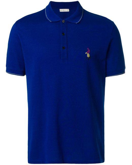 メンズ Etro ロゴポロシャツ Blue