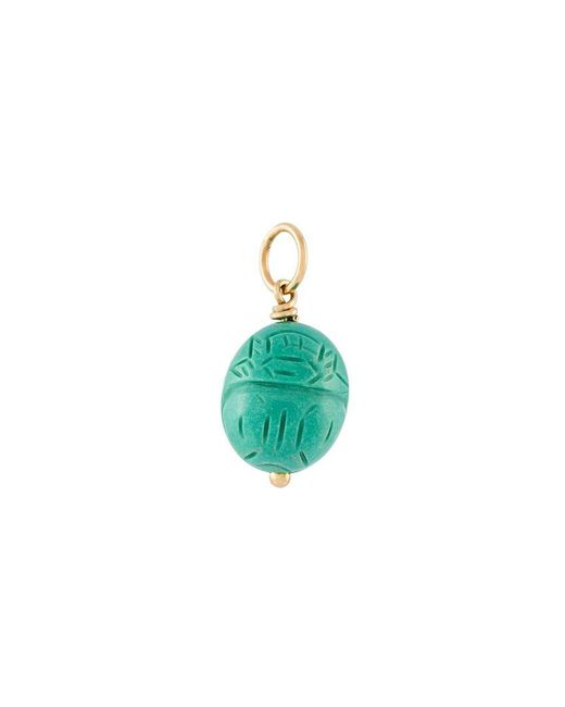 Aurelie Bidermann - Green 'scarab' Turquoise Pendant - Lyst