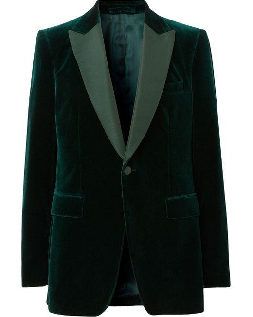 メンズ Burberry テーラードジャケット Green