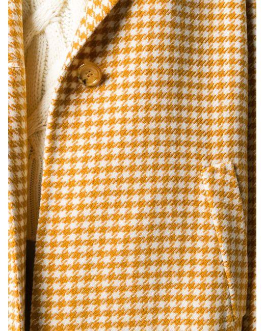 Manzoni 24 ハウンドトゥース コート Yellow