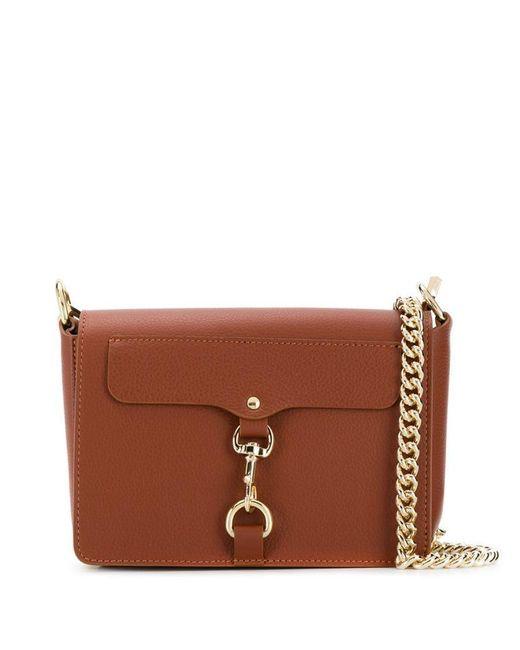 9f77fdf4779c Rebecca Minkoff Mab Flap Cross Body Bag in Brown - Save 10% - Lyst