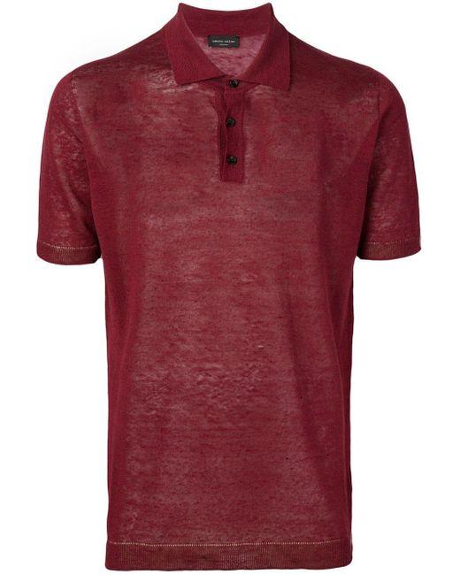 メンズ Roberto Collina ポロシャツ Red