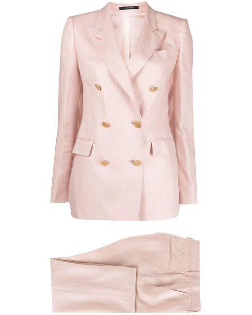 Tagliatore Pink Parigi Two-piece Linen Suit