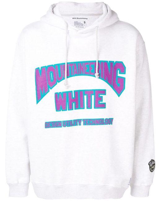 メンズ White Mountaineering ロゴ パーカー Multicolor