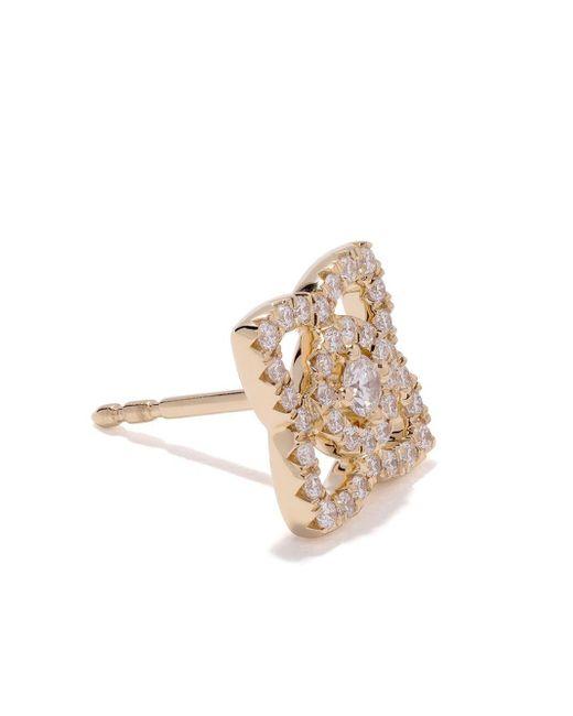 18kt Yellow Gold Enchanted Lotus Diamond Stud Earrings De Beers, цвет: Metallic