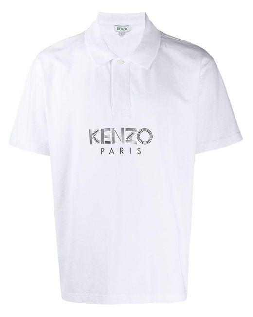 メンズ KENZO ロゴ ポロシャツ White