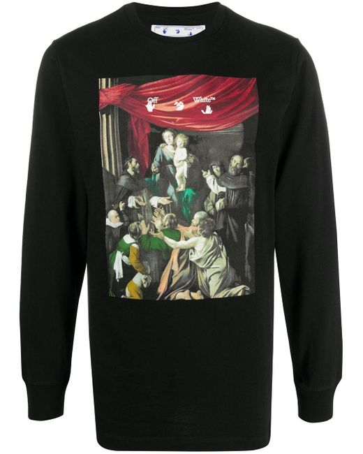 Camiseta con estampado Caravaggio Off-White c/o Virgil Abloh de hombre de color Black