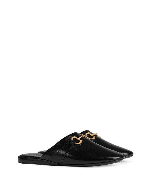 Слиперы С Закругленным Носком Gucci для него, цвет: Black