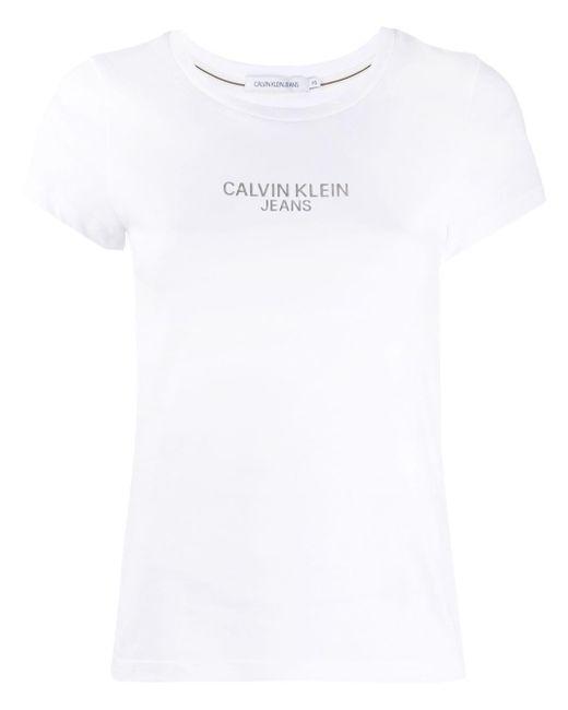 Calvin Klein ロゴ Tシャツ White
