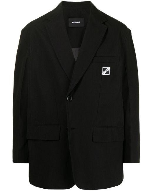 メンズ we11done ロゴ シングルジャケット Black