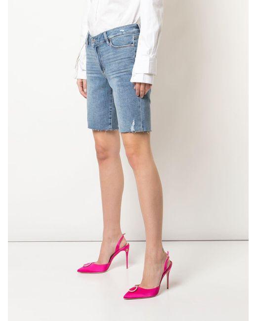 Paige Women's Blue Jax Cut-off Shorts