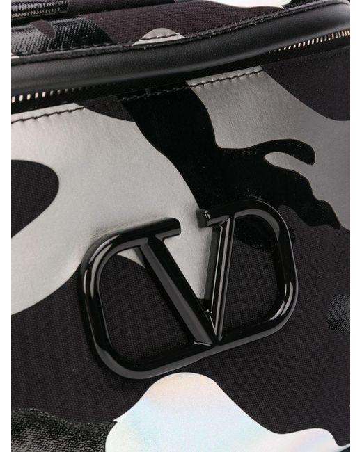メンズ Valentino Garavani Vロゴ カモフラージュ ベルトバッグ Black