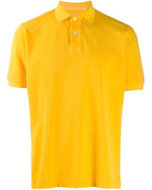 メンズ Eleventy ポロシャツ Yellow