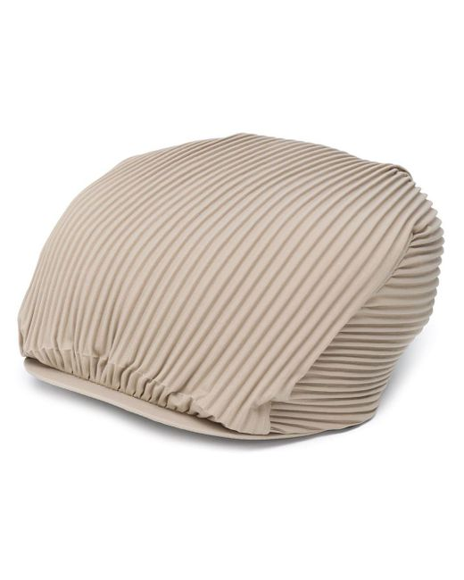 メンズ Issey Miyake プリーツ ベレー帽 Multicolor