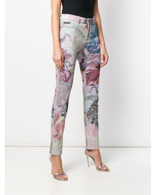 Jeans Underwater slim di Philipp Plein in Multicolor