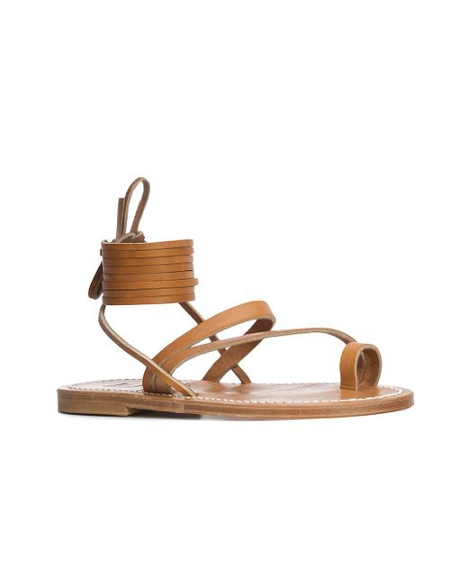 K jacques Strappy lace up sandals Discount y42NT17AI