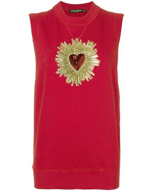 Dolce & Gabbana - Sacred Heart Tank Top - Lyst