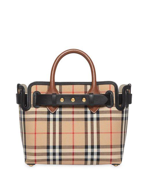 Mini sac cabas The Belt à détails de clous Burberry en coloris Multicolor