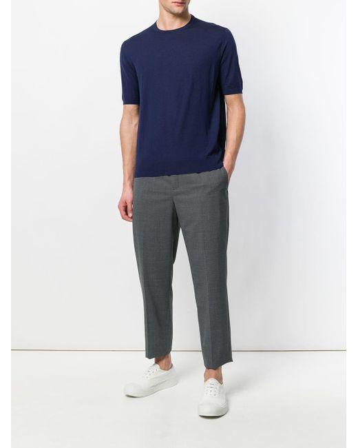 Prada Gebreid T-shirt in het Blue voor heren