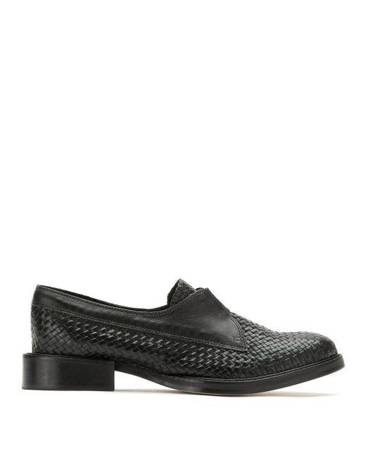 Sarah Chofakian Leren Loafers in het Black