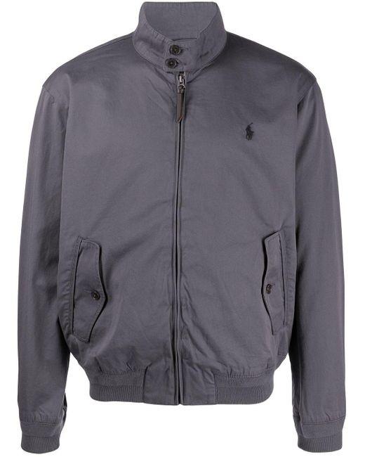 メンズ Polo Ralph Lauren ロゴ ボンバージャケット Gray