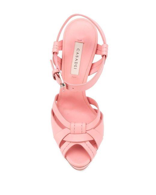 Casadei プラットフォーム サンダル Pink
