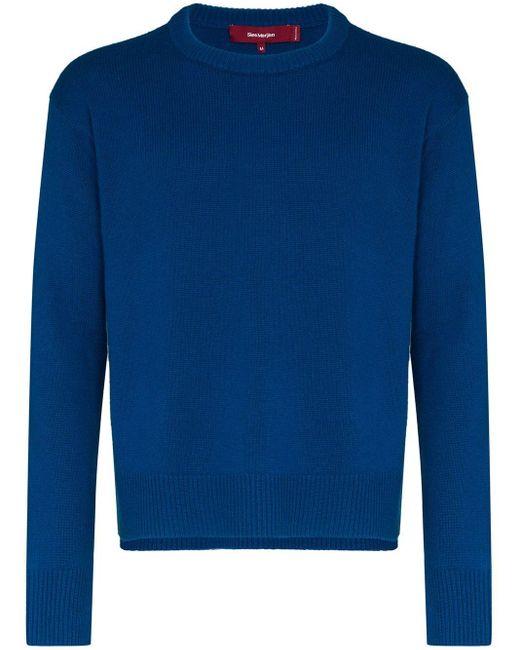メンズ Sies Marjan カシミア セーター Blue