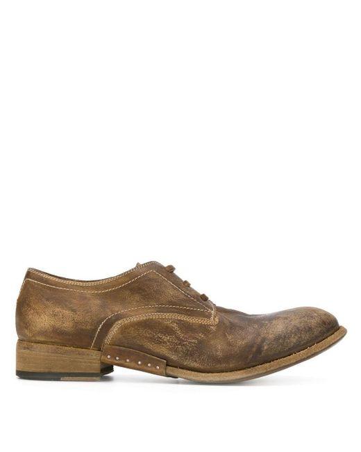 Artselab Derby-Schuhe im Used-Look in Brown für Herren