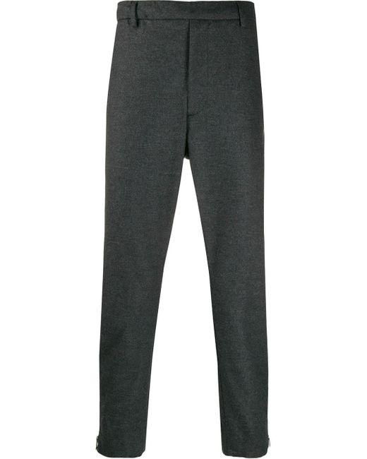 Pantalon à chevilles zippées Prada pour homme en coloris Gray